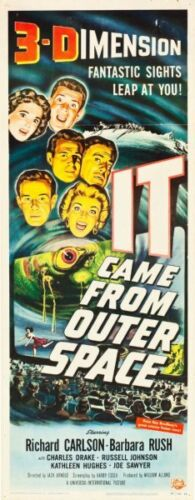 It Came From Outer Space 14x36 Insert Movie Poster Replica