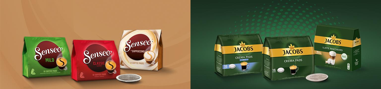 Bis -30% auf Kaffeepads von Jacobs & Senseo