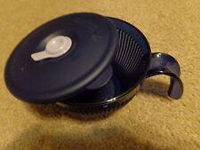 Tupperware Vent N Serve Soup Mug Cup  w/ Handle 2Cup Indigo Color Hot Cocoa  NEW