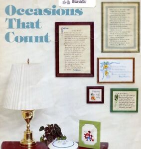 22-Cross-Stitch-Pattern-Occasions-1977-Mother-Dad-Wed-Easter-Tooth-Fairy-Retired