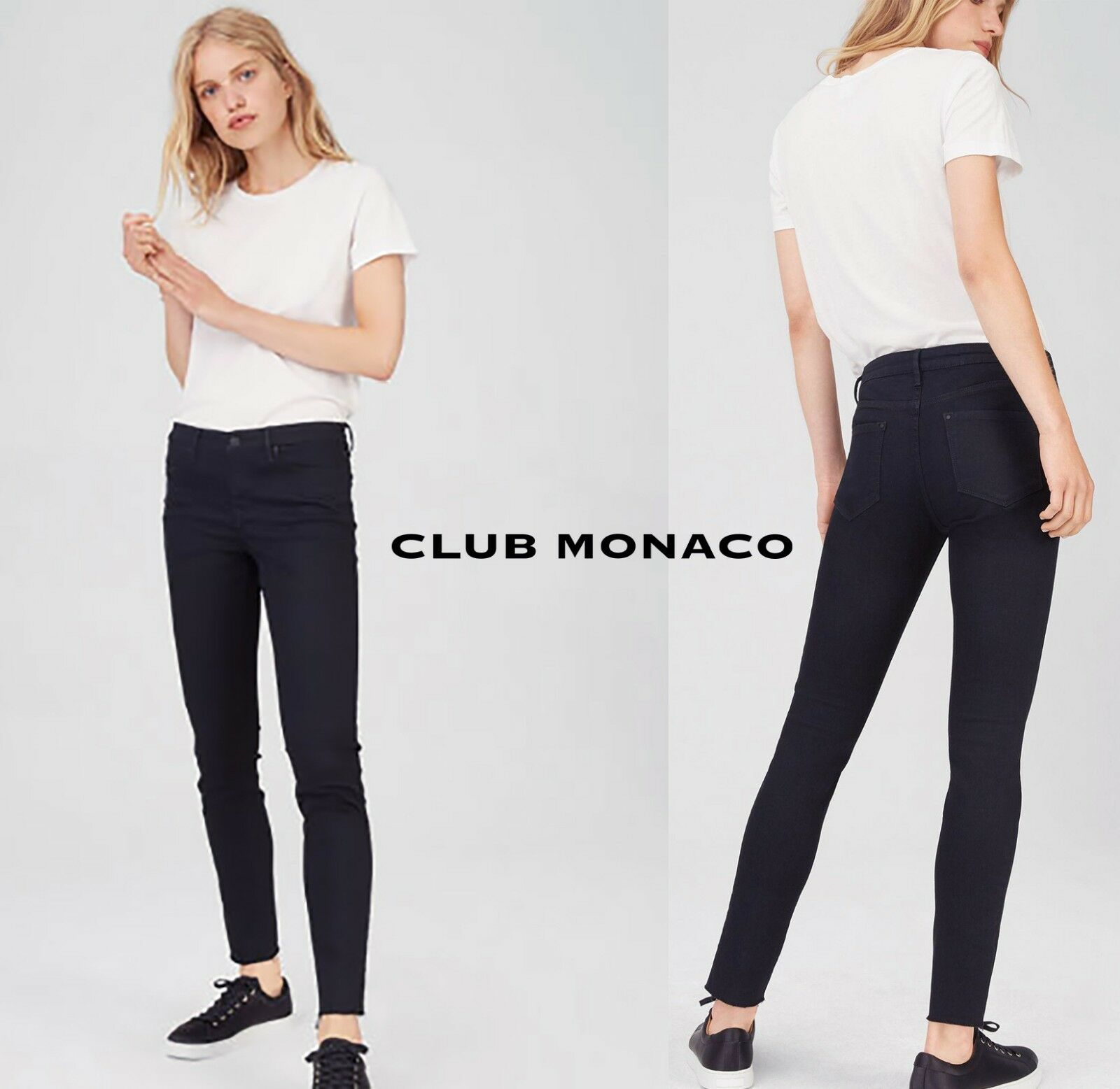 New CLUB MONACO Women's Sonica Low Rise Skinny Leg 295632216 Jeans  149 Size 28