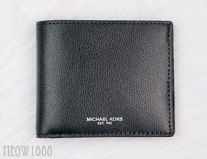 dd6feeba5b5c New in box Authentic Michael Kors Men WARREN Black Leather Billfold ...