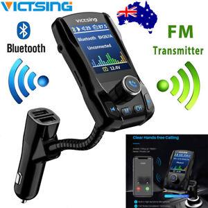 VICTSING Wireless Bluetooth FM Transmitter Car Radio Music Player w/ 3 USB Port