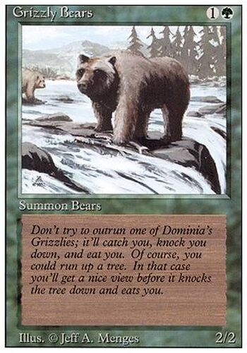 ▼▲▼ 2x Grizzly Bears Grizzlis REVISED  #201 ENGLISH Magic MTG
