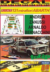 1978 WINNER 05 DECAL FIAT 131 ABARTH MARKKU ALEN 1000 LAKES R