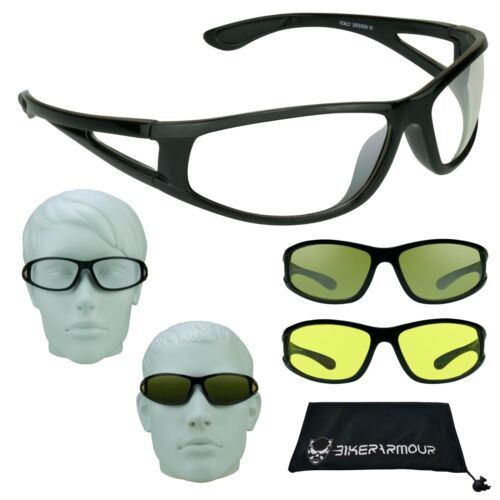 HD NIGHT VISION Glasses YELLOW CLEAR Lens Driving Motorcycle Cycling Shooting