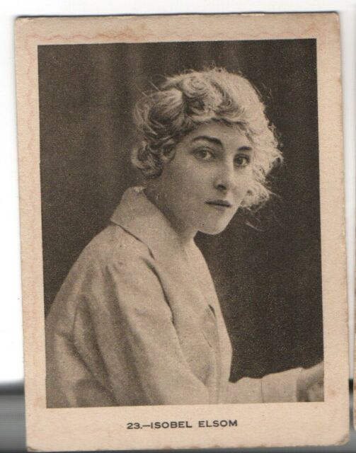Theater Edwardian Isobel Elsom Actress ADVERT Cigarettes Albert Tobacco Card