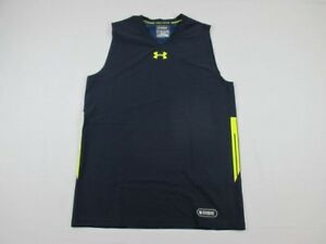 NEW-Under-Armour-Navy-Compression-Sleeveless-Shirt-3XL