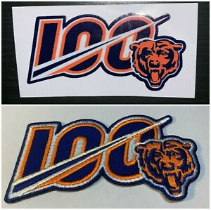 2019-CHICAGO-BEARS-NFL-PATCH-100TH-ANNIVERSARY-JERSEY-STYLE-W-FREE-DECAL-COMBO