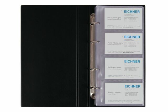 Eichner Visitenkartenalbum A5 240 Karten Visitenkarten Ringbuch