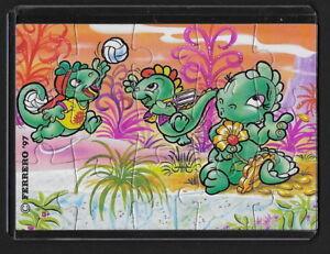 Jouet kinder puzzle 2D Dapsy Dino Family 659274 Allemagne 1997 avec étui +BPZ AcmBdrKa-08023314-997507481