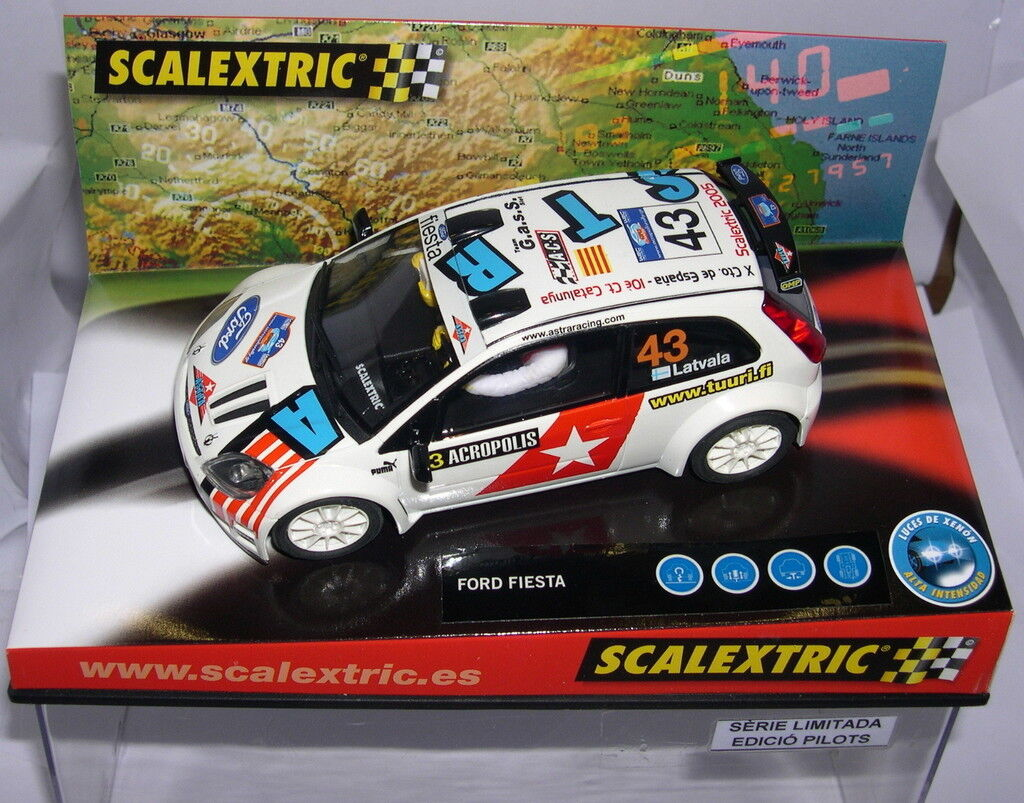 Scalextric Ford Fiesta Jwrc X Cto.spanien 2005 G. a. S.S.Off.driver Lted.ed MB