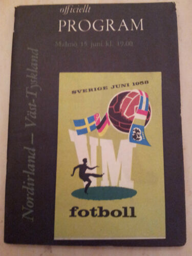 1958 World Cup NORTHERN IRELAND v WEST GERMANY