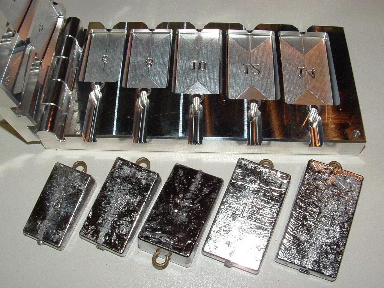 Saltwater Wedge Sinker mold 6,8,10,12,14 oz CNC Aluminum Freshwater Salmon