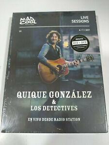 Quique Gonzalez & Los Detectives en Vivo Radio Station 2 x CD + DVD Nueva