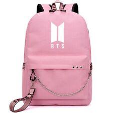 3668588c79 BTS Bangtan Boys Girls Backpack Rucksack School College Travel Laptop  Canvas Bag