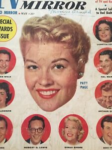Vintage-Collectible-Movie-Magazine-TV-Radio-Mirror-May-1958-Patti-Page-Cover