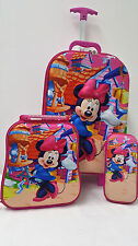 Minnie Mouse School Backpack Rucksack Trolley Travel Lunch Bag Pencil Case Kids