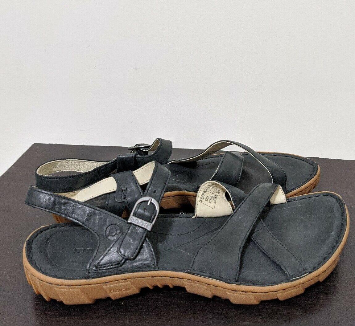 Bogs Chaussures pour femmes Todos Sandales En Cuir Noir Rebound Taille 10/41 US