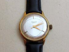 RAKETA ATOM gold plated Au20 USSR vintage men's mechanical wristwatch