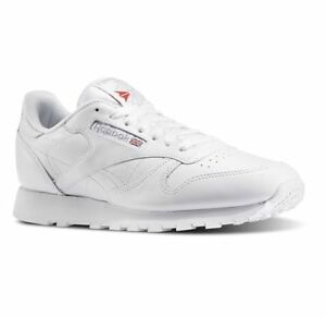 REEBOK-CLASSIC-LEATHER-White-Grey-9771-MENS-CLASSIC-RUNNING-SHOES