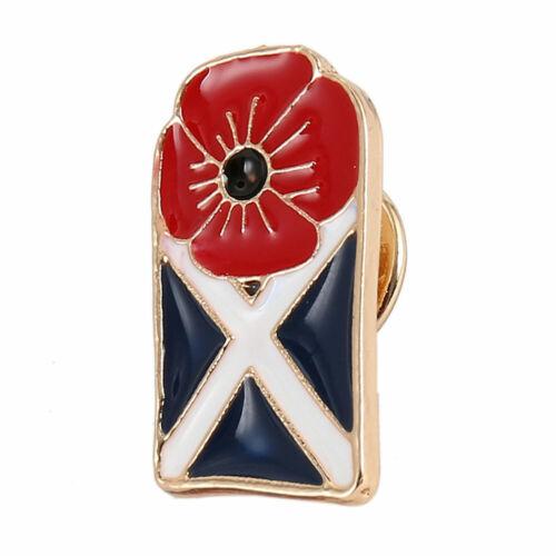 New Poppy Badges Pin 2019 Enamel Metal Crystal Brooch Lapel Red