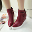 thumbnail 3 - Women Pointed Toe Wedge Heels Ankle Boots Punk Leather Vintage Party Chic Shoes