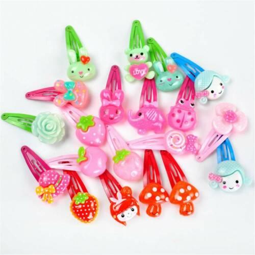 Wholesale 20pcs Mixed Cartoon Styles Baby Kids Girls HairPin Hair Clips Headwear