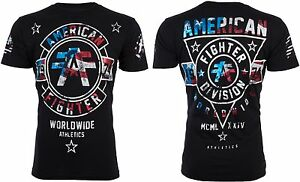 American Fighter AFFLICTION Mens T Shirt SILVER LAKE PATRIOT Flag USA UFC 40