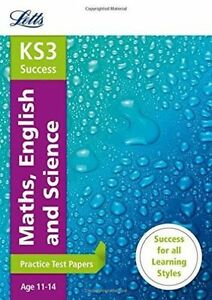 KS3 Maths, English and Science Practice Test Papers (Letts KS3 Revision  Success) by Letts KS3 (Paperback, 2014)