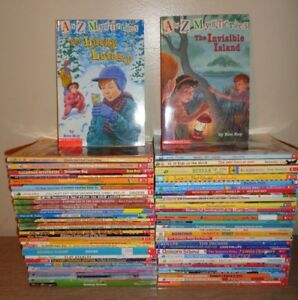 Lot-of-60-Children-039-s-Chapter-Books-Magic-Tree-House-Flat-Stanley-A-Z-Mysteries