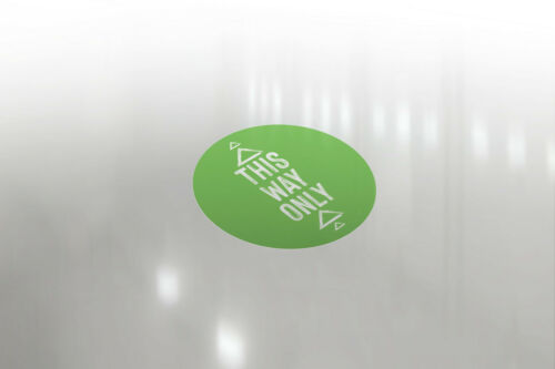 This way only Stickers Social Distancing Floor Sticker//Decals Anti Slip