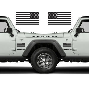 Matte Black Jeep >> Details About Subdued American Flags Tactical Military Usa Decal Jeep 5 X3 Pair Matte Black