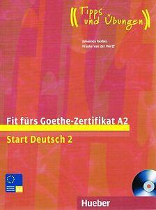 hueber fit furs goethe zertifikat a2 start deutsch 2 mit. Black Bedroom Furniture Sets. Home Design Ideas