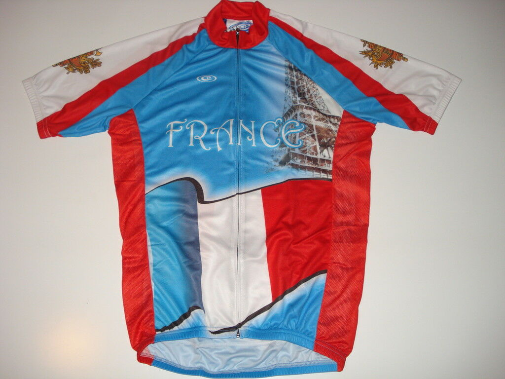 New FRANCE Team Country Flag Bike Cycling Jersey  size M  factory outlets