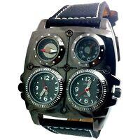 Montre Militaire Xxl 2 Fuseaux Horaires + Boussole + Thermomètre 4 En 1 Ernest