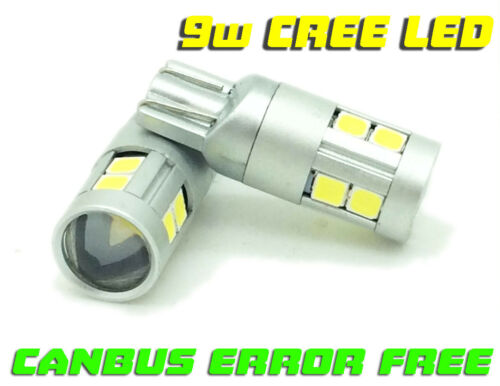 Canbus Error Free 9W LED Sidelight Bulbs For Toyota Starlet Turbo Rav 4