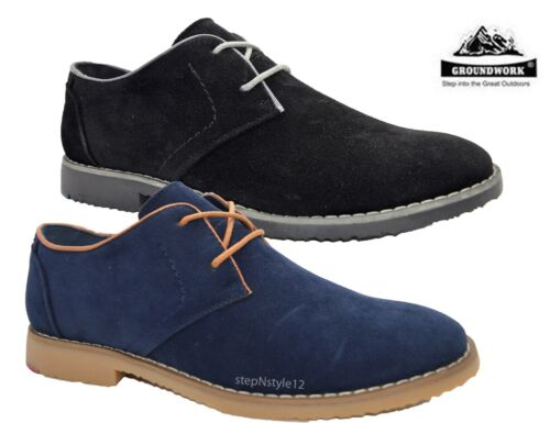 Mens New Groundwork Smart Casual Lace Up Work Office Formal Shoes Size 7-11