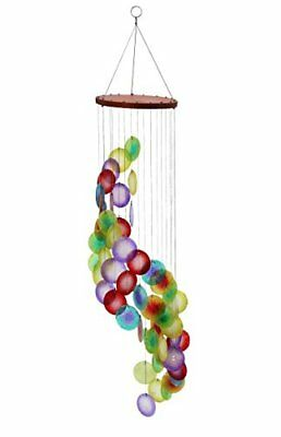 Windchime with Spinner Rainbow Spiral Muticolor