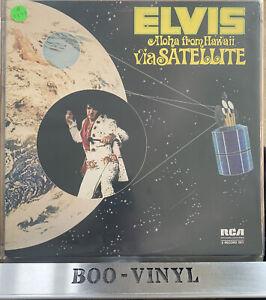 Elvis ' Aloha from Hawaii Via Satellite' Vinyl 2 Record Set  DPS 2040 EX / EX