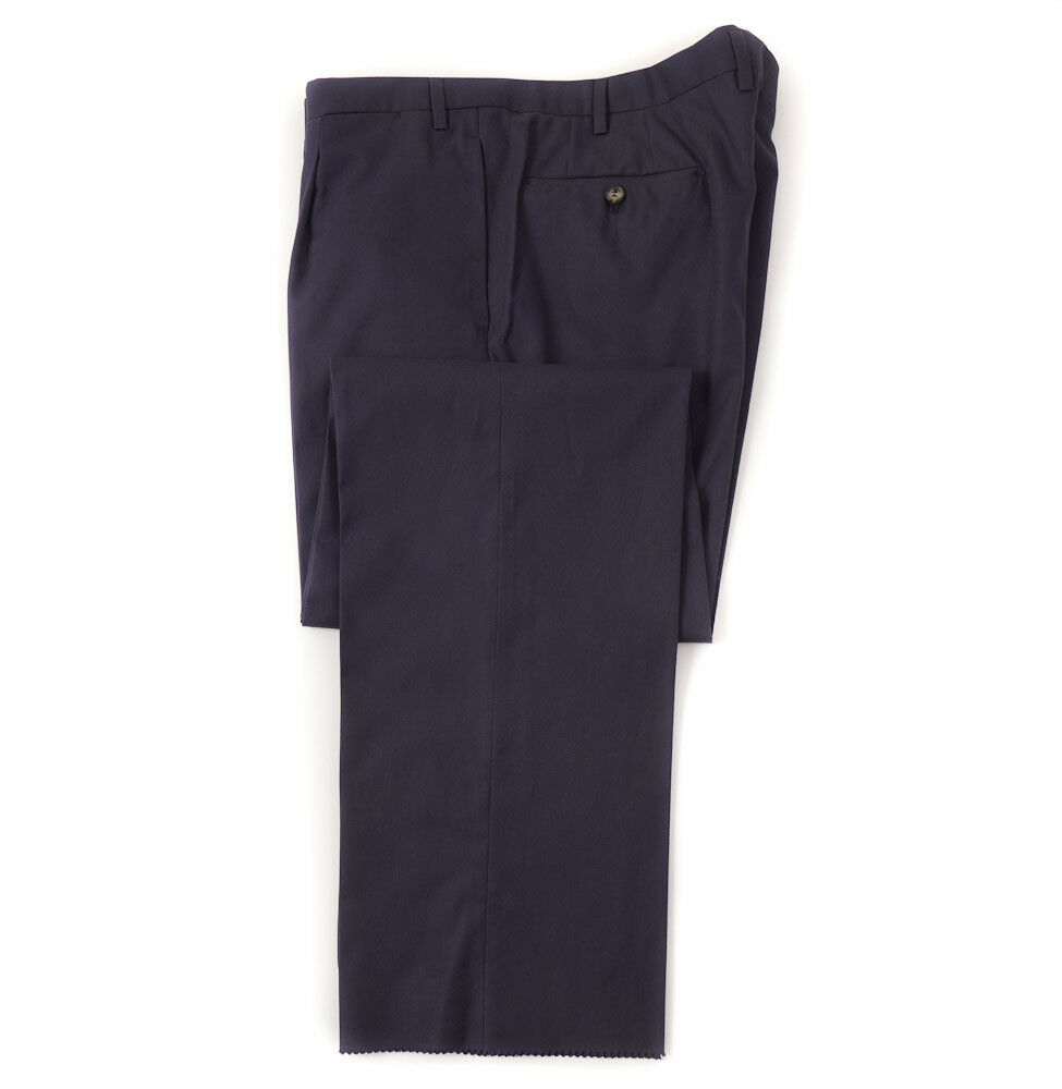 New  D'AVENZA Navy bluee Cotton Dress Pants 38  Waist Single-Pleat
