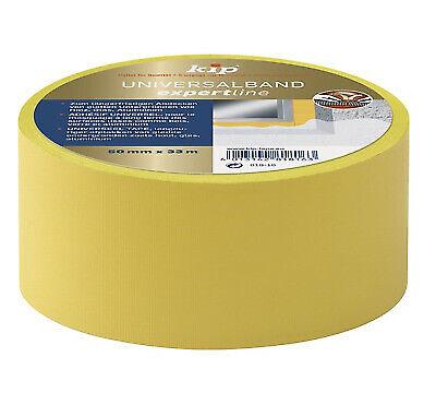 KIP 818-16 Rolle Universalband Malerband Abdeckand Schutzband gelb 50mm x 33m