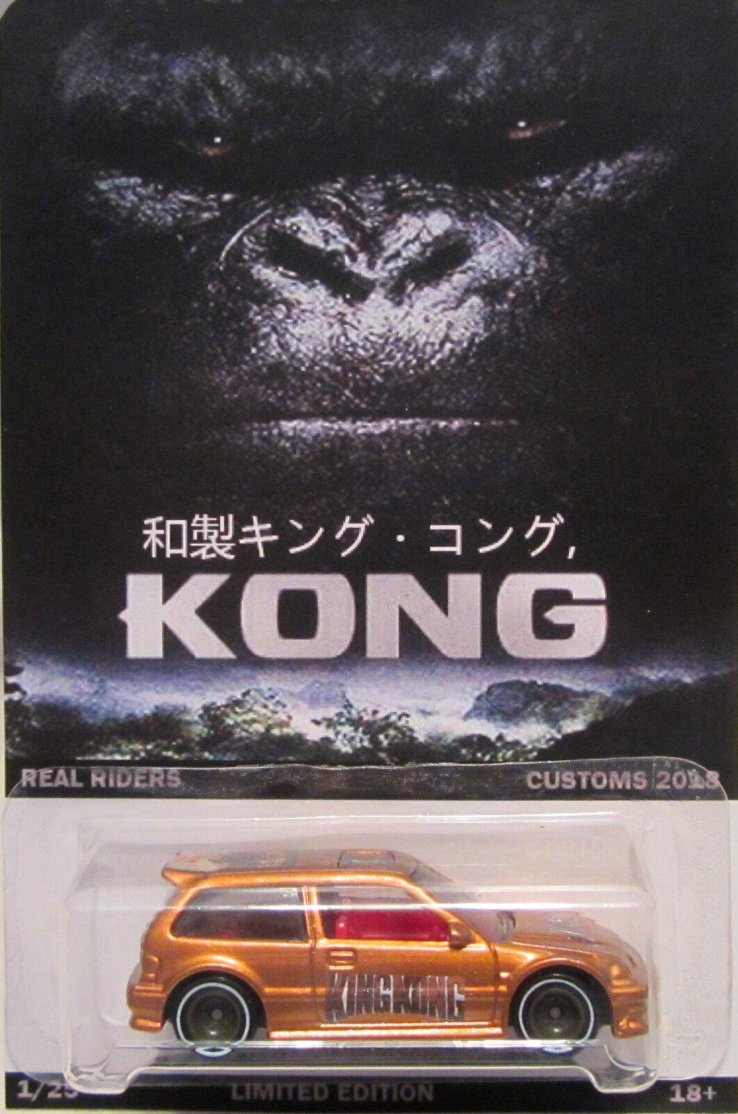 Hot Wheels Personnalisé Honda Civic King Kong Real Riders Limité 1 25 Fabriqué
