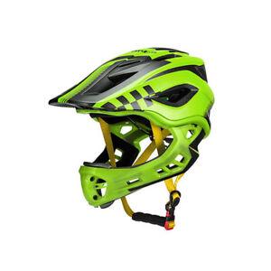 RockBros-Cycling-Child-Kids-Bike-Full-Helmet-Safety-Green-Size-M-53-58cm