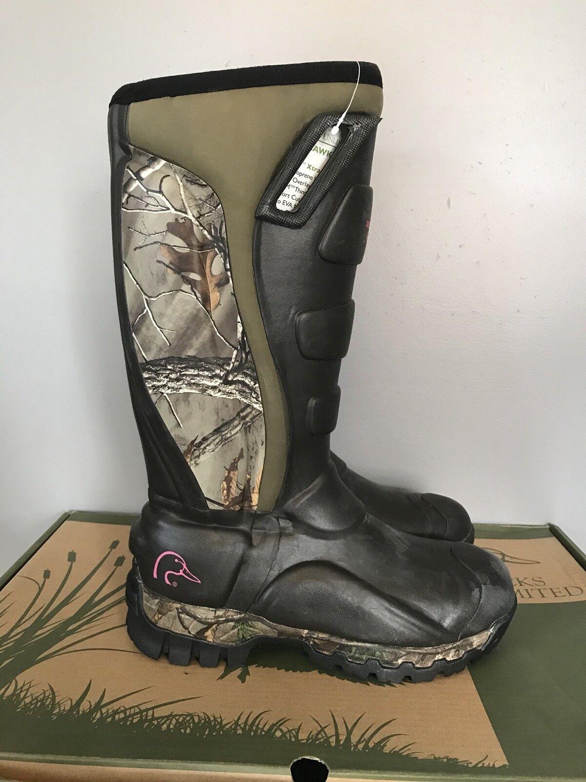 Ducks Unlimited Nighthawk 400g Thinsulate Camo Hunting Stiefel Damenschuhe 9 a4