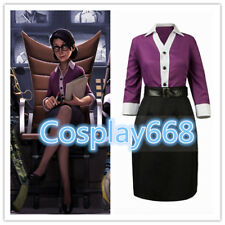 Hot!Team Fortress 2 Miss Pauling Cosplay Costume N26