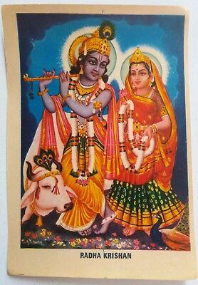 Radha Krishna Kunj Bihari Hindu Bhagwan God In Size 7\u2033 X 5\u2033 Inches Photo Picture Frames Hindu Mythology