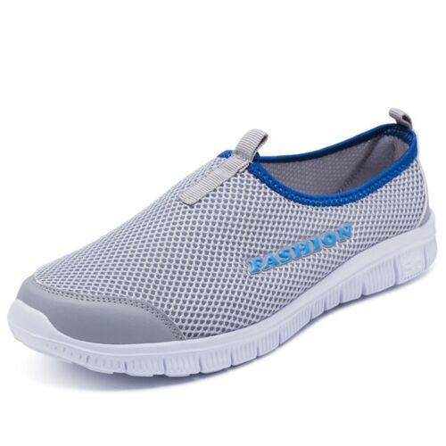 Plus Size Women Light Sneakers Casual Mesh Breathable Flat Shoes Female Slip On