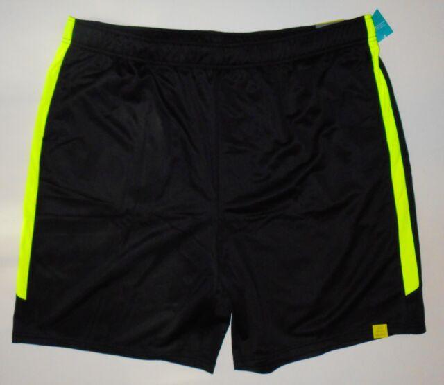 e672916f8 NWT Men s Big   Tall Training ATHLETIC SHORTS Black Green 4XL XXXXL Fitness