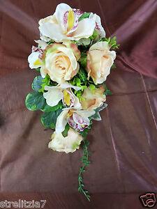 51 Exclusiver Brautstrauss Strauss Orchideen Rosen Perlen Hochzeit